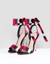 ASOS - HYPERACTIVE - Sandali con tacco a righe - Multicolore