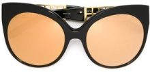Linda Farrow - Occhiali da sole '388' - women - Acetate/Gold Plated Titanium - OS - BLACK