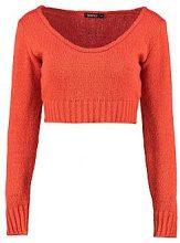 Katrina maglione corto con scollo a barchetta in maglia morbida
