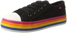 Rocket Dog Magic, Sneaker Donna, Schwarz (Black/Rainbow), 40 EU