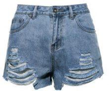 Shorts di jeans con orlo tagliato
