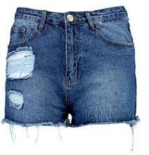 Plus amelia pantaloncini di jeans con borchie