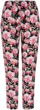ONLY Printed Trousers Women Black
