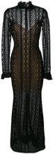 Ermanno Scervino - Maxi abito aderente trasparente - women - Polyester/Polyamide/Silk/Spandex/Elastane - 42 - BLACK
