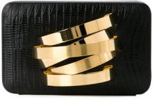 Rula Galayini - Clutch 'Coil' con bracciale incorporato - women - Calf Leather - OS - Nero
