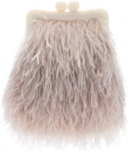 Maison Esve - Clutch - women - Ostrich Feather/Silk/Elastodiene - OS - PINK & PURPLE