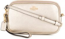 Coach - crossbody clutch bag - women - Calf Leather - One Size - NUDE & NEUTRALS