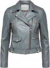 SELECTED Lamb - Leather Jacket Women Grey