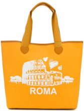 Twin-Set - Roma tote bag - women - Cotton/Polyester/Polyurethane - OS - YELLOW & ORANGE