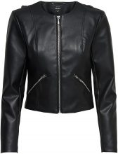 ONLY Short Faux Leather Jacket Women Black