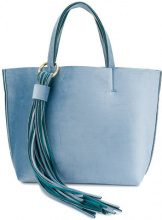 Alila - Borsa Tote 'Holidays' con frange - women - Neoprene/Velvet - OS - BLUE