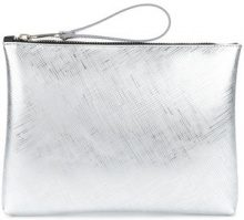 Gum - metallic zip clutch - women - Polyurethane - OS - METALLIC