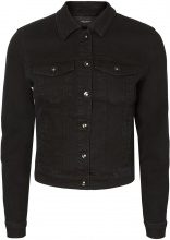 VERO MODA Short Denim Jacket Women Black