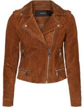 VERO MODA Suede Jacket Women Brown