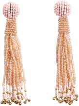 PIECES Long Pearl Earrings Women Beige