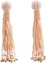 PIECES Long Pearl Earrings Women Beige