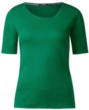 Cecil 311780 Lena, T-Shirt Donna, Grün (Clover Green 11279), Medium