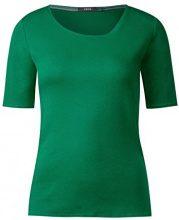 Cecil 311780 Lena, T-Shirt Donna, Grün (Clover Green 11279), Medium