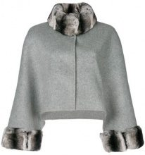 Liska - Cappotto con colletto in pelliccia - women - Rabbit Fur/Wool/Polyester - OS - GREY