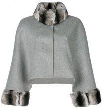 Liska - Cappotto con colletto in pelliccia - women - Rabbit Fur/Wool/Polyester - OS - GREY