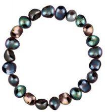 Bracciale con perle d'acqua dolce colorate