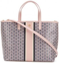 Tory Burch - Gemini link small tote - women - Leather - OS - PINK & PURPLE