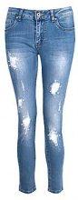 Abi jeans skinny a vita media con perline