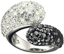 Swarovski donna-anello Louise Black and White Swarovski-uno in metallo multicolore 11104, Metallo, 52 (16.6), colore: multicolore, cod. 1110425