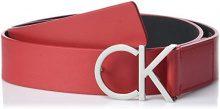 Calvin Klein Ck Logo Belt 3.5cm, Cintura Donna, Rosso (Haute Red 618), 90