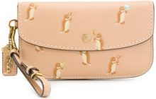 Coach - Penguin print clutch bag - women - Leather - OS - NUDE & NEUTRALS