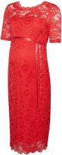 MAMA.LICIOUS Lace Maternity Dress Women Red