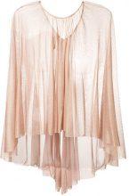 Maria Lucia Hohan - floaty tulle cape - women - Silk - OS - METALLIC