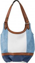 Borsa a tracolla Tricolor (Blu) - bpc bonprix collection
