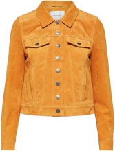 SELECTED Suede - Leather Jacket Women Yellow