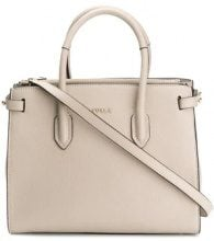 Furla - Pin tote bag - women - Leather - One Size - NUDE & NEUTRALS