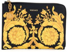 Versace - Clutch con stampa barocca - women - Calf Leather - One Size - BLACK