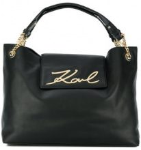 Karl Lagerfeld - Borsa Shopper 'Signature Soft' - women - Leather - One Size - Nero