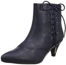 Joe Browns Mystical Side Lace Ankle Boots Stivali Donna, Blue (Midnight), 39 EU