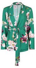 Lana Oriental Belted Woven Blazer