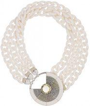 Camila Klein - Imã resin necklace - women - metal - OS - Bianco