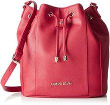 Armani Jeans922563cc857 - Borsa baguette Donna, rosa (Pink (GERANIO 08873)), 12x29x28 cm (B x H x T)