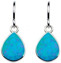 Dew - Orecchini da donna, pendenti a pera, in argento sterling, Argento, colore: Opale blu sintetico, cod. 5061BSO