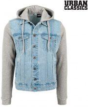 Giacca jeans con maniche in felpa Urban Classics