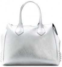 Gum - large stud detail tote bag - women - Polyurethane - OS - METALLIC