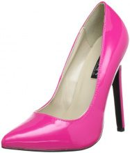 Pleaser EU-SEXY-20 SEXY20/HP, Scarpe col tacco donna, Rosa (Pink (H. pink pat)), 36