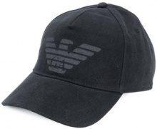 Emporio Armani - logo printed baseball cap - men - Cotton - OS - BLACK