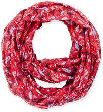 Tom Tailor Printed Tube, Foulard Donna, Rosso (Scooter Red 4543), Taglia unica