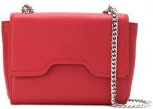 Lancaster - Borsa a spalla con battente con chiusura magnetica - women - Leather/Canvas - OS - RED