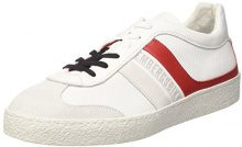 Bikkembergs ris-ER 842, Sneaker a Collo Basso Uomo, Bianco (White/Red), 41 EU