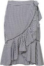 VERO MODA Chequered Hw Skirt Women Black